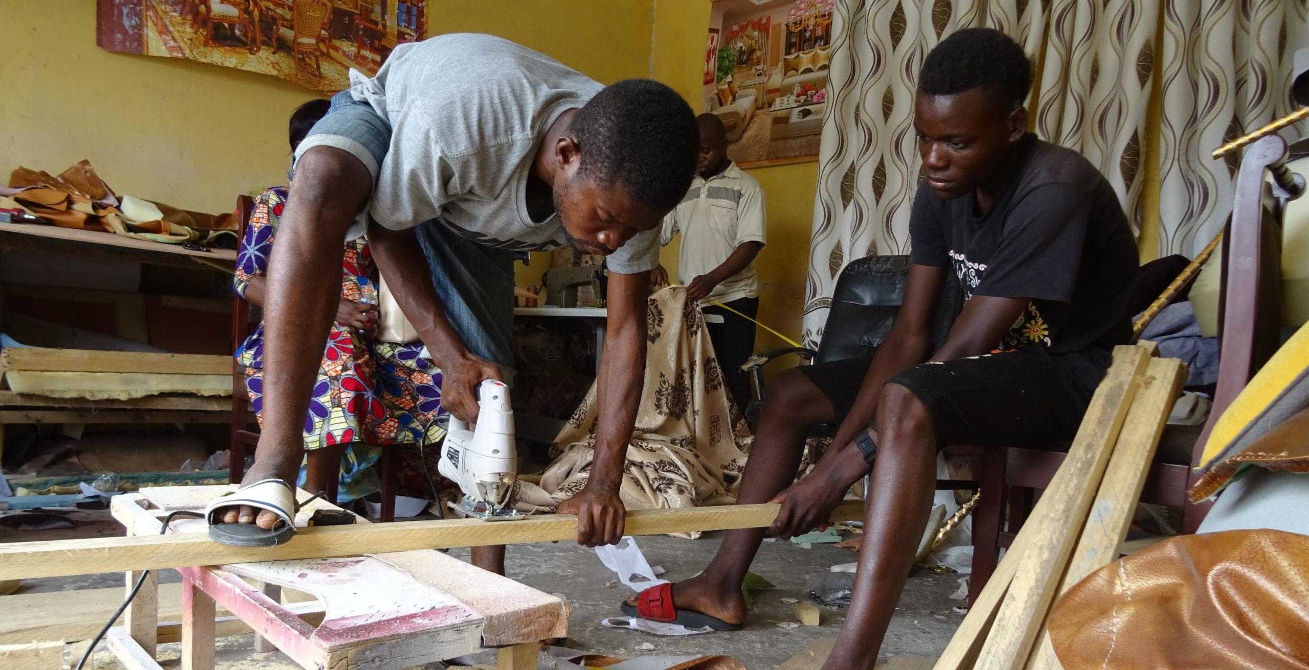 Face à la crise sanitaire : Les jeunes des parcours de formation professionnelle à Brazzaville se sont adaptés!